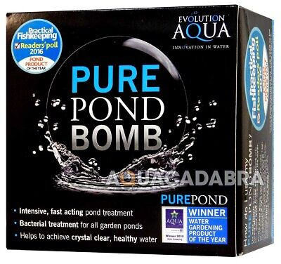 £13.95 • Buy Evolution Aqua Pure Pond Bomb Cleaning Treatment Clear Healthy Fish Pond Water
