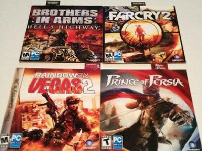 AU25.24 • Buy 5 PC Games: Rainbow Six: Vegas 2, Assassin's Creed, Farcry 2, Prince Of Persia
