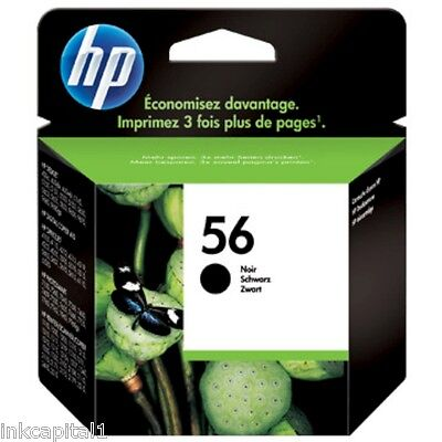 $63.94 • Buy HP No 56 Black Original OEM Inkjet Cartridge C6656AE For PSC Printer