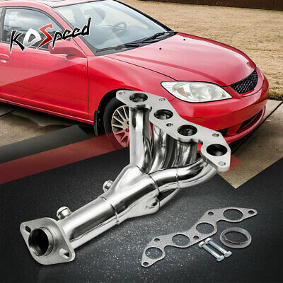 $73.88 • Buy Em2/es1 D17a Stainless Header/exhaust Manifold For 01-05 Honda Civic Dx/lx 1.7