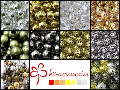 £2.99 • Buy BUY 3 GET 3 FREE 2mm 3mm4mm 6mm 8mm Plated Iron Metal Spacer Beads