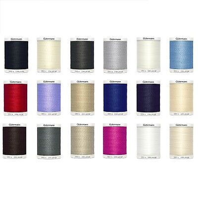 Gutermann Polyester Sew All Thread 1000 M Choice Of Colours • 9.99£