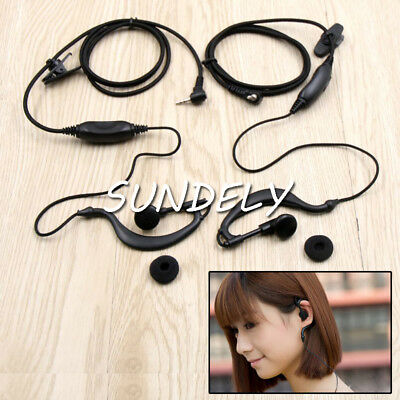 Pair Clip Ear Headset/Earpiece For Garmin GPS/Radio Rino 110 120 130 520  520HCx • 18.95$