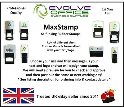 Personalised Rubber Stamp Self Inking Name Address Business Garage School Etc • 9.65£