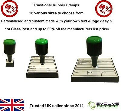 Personalised Rubber Stamp Traditional Style Name Address Business Garage Schools • 10.69£