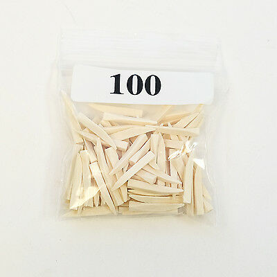 Dental Disposable Contoured Curved Wood Wedges 100/Bag Color Coded White Small • 7.26£