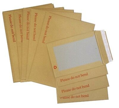 £3.95 • Buy Hard Card Board Back Backed 'please Do Not Bend' Envelopes Manilla Brown