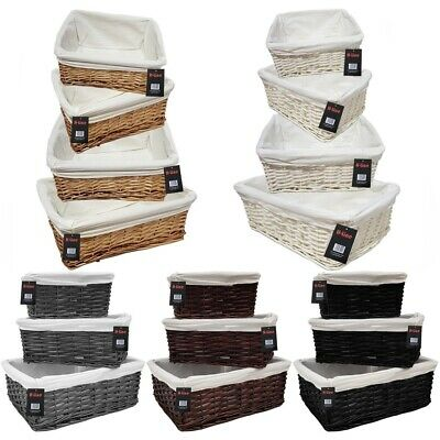 £10.99 • Buy Wicker Willow Storage Baskets Lining Easter Gift Make Your Own Hamper Large