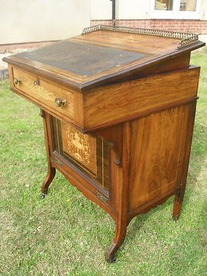 £1295 • Buy 19th Century Rosewood And Inlaid Ladies Writing Desk