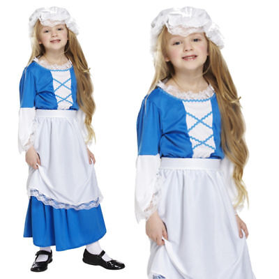 $16.66 • Buy Girl Victorian Peasant Maid Costume Kids Historical World Book Day Fancy Dress