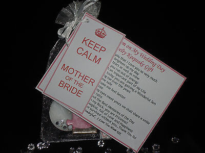 £4.95 • Buy Mother Of The Bride Gifts Wedding Day Thank You  KEEP CALM Personalise Unusual