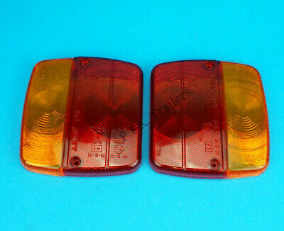 AU10.24 • Buy 2 X AJBA FP11 Replacement Lens For Small Rear Trailer Lamp Light  Daxara & Erde