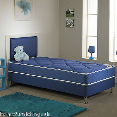 New Chelsea Blue Open Spring Bed - 2ft6 Small, 3ft Single - Fast Free Delivery • 159.99£