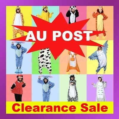 AU16.95 • Buy AU Adult Fleece Unisex Kigurumi Animal Onesie Pajamas Cosplay Costume Sleepwear