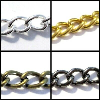 BUY 3 GET 3 FREE 1,3,5 Meter Metal Cable Chain - 2.5x3mmx0.8mm - Various Colour  • 1.79£