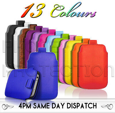 £2.79 • Buy Premium PU Leather Pull Tab Pouch Case Cover For Various LG Mobile Phones