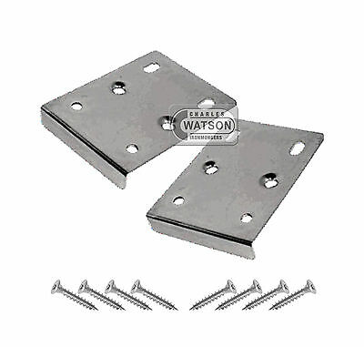 PAIR (2x) Hinge Repair Plate Kitchen Unit Cupboard Cabinet Door Mending • 3.79£