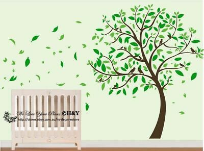 Cot Side Blowing Tree Flower Removable Wall Stickers Kids Nursery Vinyl Decals  • 41.57£