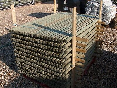 £46.99 • Buy 20 X WOODEN TREATED FENCE POSTS OR TREE STAKES 1.2m (4ft) X 50mm Dia., Fencing