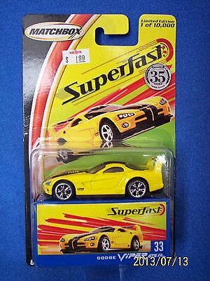 $9.99 • Buy Matchbox Dodge Viper GTSR Superfast Diecast Toy Car Mattel RT/10 SRT10 ASR NIB