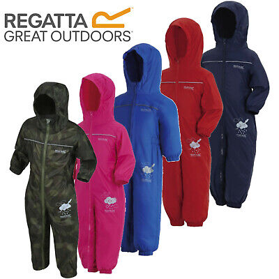 Regatta Puddle Rain Suit Waterproof All In One Childrens Kids Childs Boys Girls • 16.90£