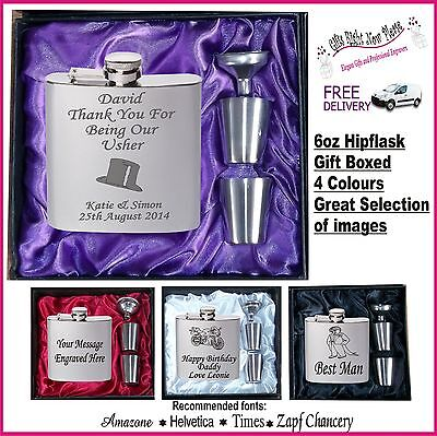 £11.99 • Buy Engraved Hip Flask 18th 21st 30th 40th 50th 60th Birthday Gifts  Present 2013