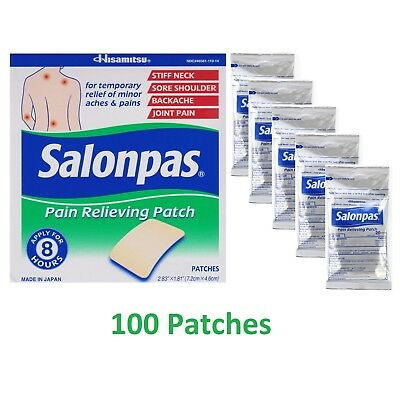 AU37.95 • Buy Salonpas By Hisamitsu 100 X Menthol Pain Relieving Patch 7.2x4.6cm Made In Japan