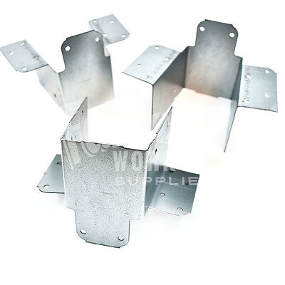 10 PACK MINI JOIST HANGER - 50mm - SUITABLE FOR WOODEN DECKING PROJECTS • 11.99£