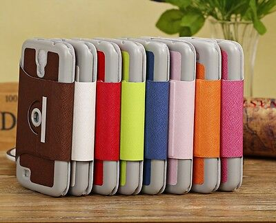 AU17.10 • Buy PU Leather Case Cover Stand Samsung Galaxy Mega 6.3  I9200 Free Screen Protector