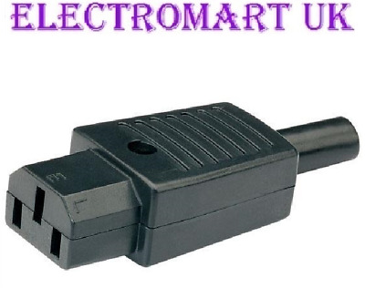 Iec C13 Euro Mains Power In-line Socket Female 10a Amp Rated • 1.95£