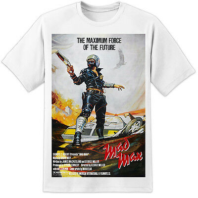 £16.99 • Buy Mad Max Movie Poster T Shirt Retro Vintage - Road Warrior (s-3xl) Mel Gibson