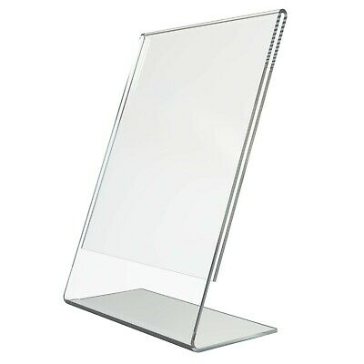 Acrylic Counter Poster Holder Perspex Leaflet Display Stand A3 A4 A5 A6 A7 A8 A9 • 9.84£
