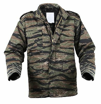 $96.99 • Buy Mens Tactical Field Jacket Rothco M-65 Tiger Stripe Camouflage Camo Coat S - 3XL