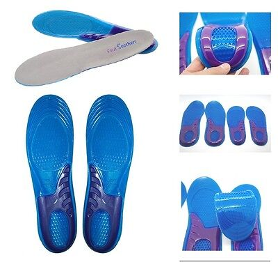 Work Boots Gel Insoles Shoe Inserts Orthotic Arch Support Pads Massaging Feet • 4.49£