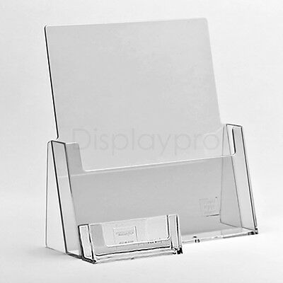 A6 DL A5 & A4 Leaflet Holders Menu Display Stand And Business Card Dispenser • 6.73£