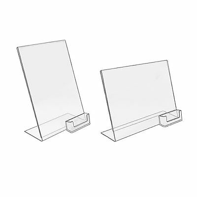 Counter Poster Holder Menu Display Stand And Business Card Dispenser A6 DL A5 A4 • 11.12£
