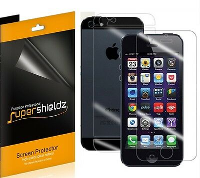AU9 • Buy 3x Supershieldz Front + Back Clear Screen Protector For Apple IPhone 5 5S