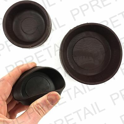 4 X RUBBER CASTOR CUPS < SMALL Or LARGE > Brown Chair/Sofa Floor Protector Grip • 3.45£