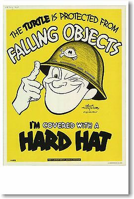 £7.18 • Buy I'm Covered With A Hard Hat - NEW Vintage Reprint POSTER