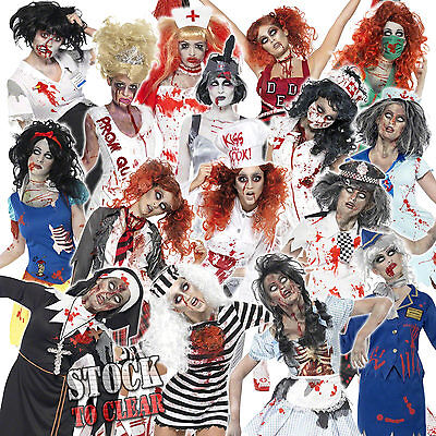 £21.50 • Buy Halloween Adult Ladies Zombie Fancy Dress Costume Womens New Zombies Outfit