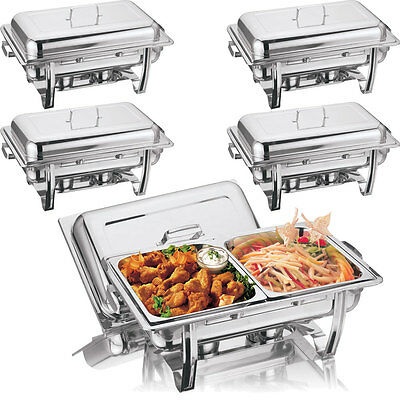 £56.95 • Buy New 2 Pans Chafing Dish Set Stainless Steel 8.5l Party Cater Food Warmer Fuel