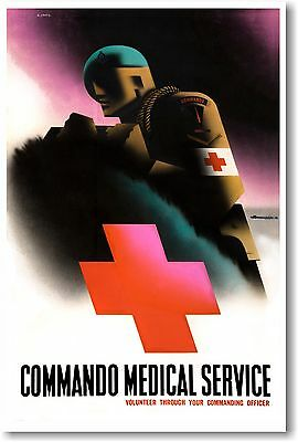 $9.99 • Buy Commando Medical Service - NEW Vintage Photograph POSTER