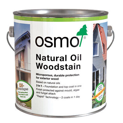 Osmo Natural Oil Woodstain 5ml Sachet, 125ml, 750ml & 2.5 Litres. In 19 Shades • 29.95£
