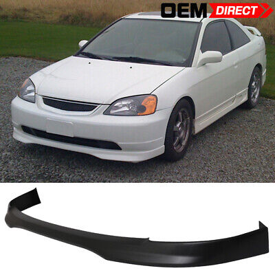 $71.99 • Buy For 01-03 Honda Civic T-R Style Front Bumper Lip - PP