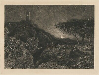 Samuel Palmer :  The Lonely Tower  (1879) — Giclee Fine Art Print • 14.84£