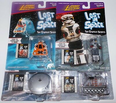 AU109.33 • Buy Lost In Space : Chariot, Robot B-9, Jupiter 2, Space Pod Carded Models