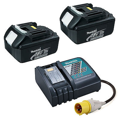 MAKITA LXT 110V DC18RC CHARGER WITH 2 X BL1830 BATTERIES • 247.99£