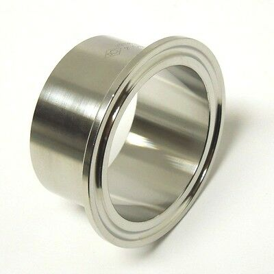AU16.20 • Buy Sanitary 2″ 304 Stainless Long Weld Ferrule Clamp End Dairy Tri Clover <san034
