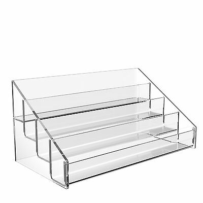 Nail Polish Varnish Display Stand 4 Tier Clear Acrylic Lip Stick Counter Holder • 13.39£