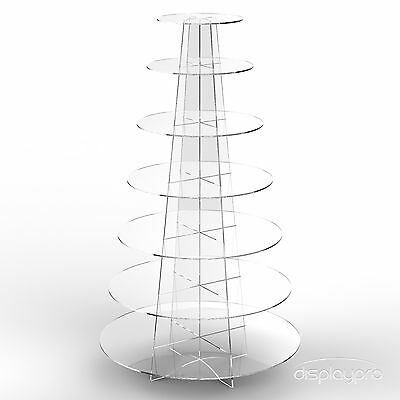 £39.78 • Buy Cup Cake Acrylic Stand 7 Tier Cupecake Wedding Party Display Riser - Round